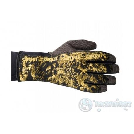 Перчатки для подводной охоты с кевларовой ладонью SARGAN Неман RD2.0
