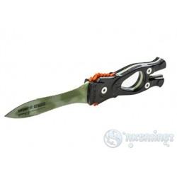 Нож SARGAN Сталкер-стропорез Z1 - покрытие зеленый камуфляж