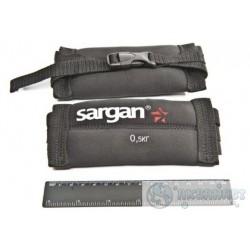 Груза ножные мягкие SARGAN Донгуз 500 0,5 кг, 2мм, неопрен-нейлон чёрный, баласт-Pb.
