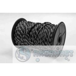 Линь Omer Nylon 2мм плетеный черно- белый