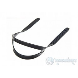 Ремешок  для масок, универсальный тип 2.0, без перемычки, черный силикон