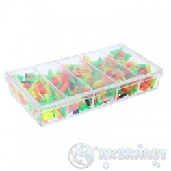 Кембрики ТРИ КИТА набор силиконовых кембриков в коробочке СВ-01 (100*50*17мм)
