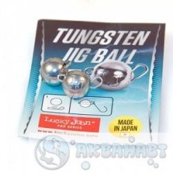 Груз LUCKY JOHN Груз-головки LJ Pro Series TUNGSTEN JIG BALL вольф. разбор. 005г 2шт.